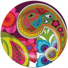 "whimsical painted game table | Raj Melamine 11"" Dinner Plates Outdoor Dishes Set of 12"