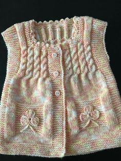 ♥ - Her Crochet Baby Knitting Patterns, Knitting Designs, Hand Knitting, Knitting Ideas, Crochet Baby, Knit Crochet, Baby Cardigan, Baby Sweaters, Outfit Sets
