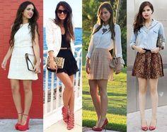 Leia aqui!: http://imaginariodamulher.com.br/look/?go=2jw0bVN Como Usar Sapato Scarpin Vermelho. Inspire-se e Encontre com Desconto!