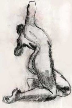 Gesture drawing  © Cristie Henry charcoal on paper 2005