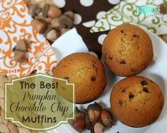 The Best Pumpkin Chocolate Chip Muffins! | TheTurquoiseHome.com