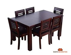 8 Seat Dining Room Sets Lovely Urbanwood Sheesham Wood Dining Table 6 Seater 6 Chairs Home Dining Room Furniture 8 Person Dining Table, Wooden Dining Table Set, Dining Table Dimensions, Glass Dining Room Table, Wooden Sofa Set, Dinning Set, Wood Sofa, Square Dining Tables, Dining Room Sets