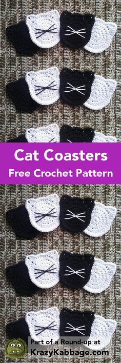 Cat Crazy Free Crochet Patterns – Krazykabbage #crochet #freepattern #cat #craft #homemade #homedecor #handmade #pets #kitty #coffee