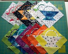 "Use this easy 6"" basket quilt block pattern to sew a bundle of baskets that can be used in any quilting project. These guys are quick to assemble."