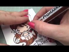 Hi everyone here's how I colour Brown hair using my pro markers the stamp I'm using is the greeting farm shimmer bean If you have any questions please leave a comment Happy crafting :)