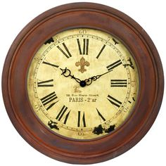 I pinned this Rue Marie Wall Clock from the Bedlow Park event at Joss and Main!