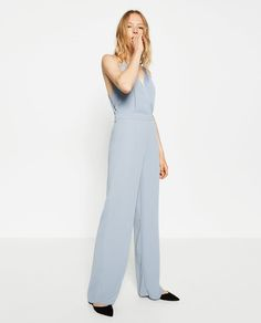 JUMPSUIT WITH CROSSOVER NECKLINE-JUMPSUITS-WOMAN-SALE | ZARA United States