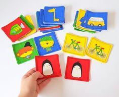 Items similar to Memory Game for Kids, Montessori Activity, Matching Fabric Game on Etsy Memory Games For Kids, Games For Toddlers, Baby Christmas Gifts, Christmas Ideas, Fabric Cards, Montessori Activities, Sensory Toys, Felt Toys, Handmade Toys