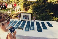 Passport Wedding Programs and  other DIY details for a Travel Themed Wedding