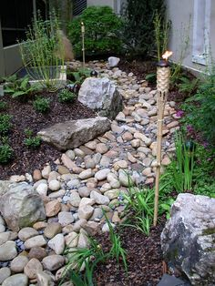 Turning your drainage ditch into a beautiful dry stream bed ...