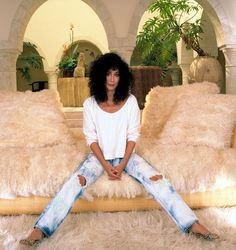Cher off-duty Cher's Style: From Sonny to Marc - Cher in 1987-Wmag