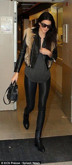 kendall jenner. slay. love this simple but glam winter outfit