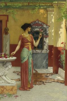 The Athenaeum - The Bouquet (John William Godward - )