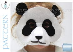 So cute! So cuddly! (So good at kung fu)! Create your own, easy to sew panda mask. Youre friends wont believe you made it yourself! Cheap and