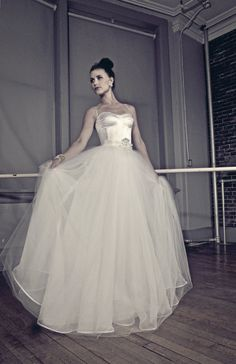 @pasdedeuxbridal wedding gowns are inspired by the romance and grace of the ballet. This silk and tulle beauty is one of our favourites!