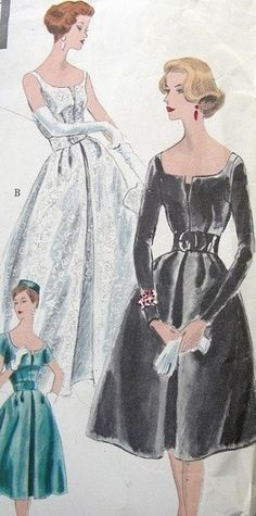 Circa 1959- I have seen pictures of my mom, my and their friends from this year, and she REALLY WAS THIS SKINNY!! These patterns were no joke!