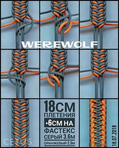 Weaving beautiful bracelets using the macro technique - Schmuck Selber Machen Paracord Weaves, Paracord Braids, Paracord Knots, Paracord Bracelets, Paracord Tutorial, Macrame Tutorial, Bracelet Tutorial, Bracelet Fil, Bracelet Knots