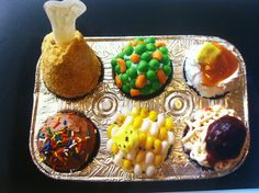 April fool's cupcakes, Tv dinner cupcakes