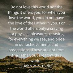 Do not love...