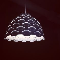 This lamp might look like it was stolen from a party at Jay Gatsby's house, but these modern, Art Deco inspired links, are used to light the offices of Quicken Loans in Downtown Detroit.