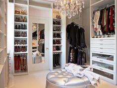A space to dress and de-stress 👌🏼✨ decked out in custom details! Head over to CLOSETPHILE for closet inspiration fit for royalty! 🇬🇧 link in story Build A Closet, Walk In Closet, Closet Bedroom, Dream Bedroom, Corner Wardrobe, Luxury Closet, Dream Closets, Big Closets, Closet Designs