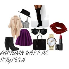 AUTUMN WILL BE STYLISH by bruceneriet on Polyvore featuring ASOS, rag & bone, Yves Saint Laurent, Nixon, River Island and NARS Cosmetics