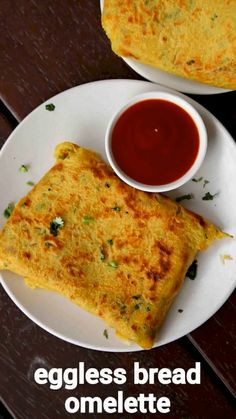 eggless bread omelette recipe, vegetarian omelette, no egg omelette with step by step photo/video. fusion or extension recipe to the classical egg based omelette but without egg. Vegetarian Recipes Videos, Spicy Recipes, Cooking Recipes, Asian Recipes, Vegetarian Recepies, Snacks Recipes, Omelette Recipe, Cheese Omelette, Omelette Ideas