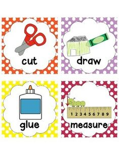 Here's a set of visual direction cards with accompanying ordinal numbers. Classroom Teacher, Classroom Language, Classroom Organization, Classroom Decor, Preschool Ideas, Teaching Ideas, Ordinal Numbers, Cue Cards, Visual Cue