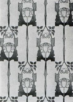 Whitwood' wallpaper design by Harry Napper, produced in 1906 Art Nouveau Pattern, Art Nouveau Design, Art Nouveau Wallpaper, Wallpaper Manufacturers, Art And Craft Design, Illustrations, Textile Patterns, Craft Patterns, Arts And Crafts Movement