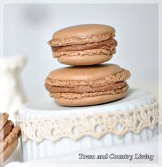 When I found out that these were so expensive I decided that I would have to try for myself.  Haven't tried yet, but here's a French Macaroon recipe