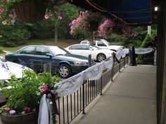 decorating railing with tulle - Google Search
