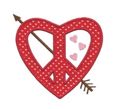 Peace Heart Applique - 5 Sizes! | Valentine's Day | Machine Embroidery Designs | SWAKembroidery.com Applique for Kids
