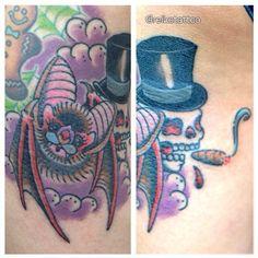 #bat #skull #tattoo #reikotattoo