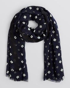 The Men's Store at Bloomingdale's Diamond Square Print Scarf