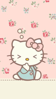 58 Ideas Wall Paper Phone Anime Kawaii Hello Kitty For 2019 Hello Kitty Pictures, Kitty Images, Hello Kitty Items, Sanrio Hello Kitty, Hello Kitty Wallpaper, Kawaii Wallpaper, Flower Wallpaper, Cute Backgrounds, Cute Wallpapers
