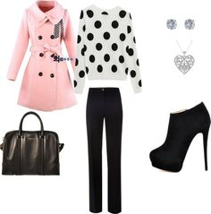 """Black, White and PINK"" by kaitlyn-romeril-beck on Polyvore"
