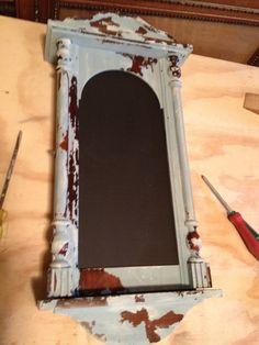Miss Mustard Seeds Milk Paint - Old clock case re-do at livingoutsidetheline.blogspot.ca