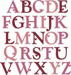 U Alphabet In Heart ... Online Store - View Design #54421 : heart alphabet - uppercase