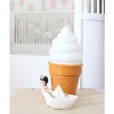 Ice Cream Light white 25 cm, IJsjes lamp wit, led nachtlampje.