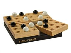 Pentago Strategy Board Game — Continuum Games | The Grommet® Games To Buy, Diy Games, Games For Kids, Family Games, Wooden Board Games, Wood Games, Game Boards, Creation Fest, Making Wooden Toys