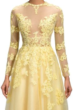 Sunvary Sexy Sheer Lace Long Sleeves Prom Dance Formal Dresses Long from Amazon