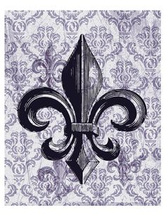 French fleur de lis Decorative art Distressed by EEartstudio, $27.00