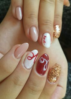 In LOVE with almond nails