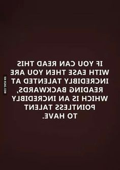 I can read this