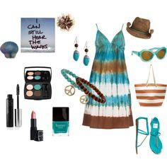 Beauty on the Beach**, created by dana-corsbie on Polyvore