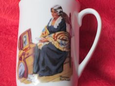 $6.50 for sale 2017 NORMAN ROCKWELL Museum Porcelain Cup, 1982, H 4-Memories Vintage Collectible Mug Grandmother Attic    Here is a Norman Rockwell Museum mug from 1982 titled, Memories,. It is in great shape...no chips, cracks, or breaks of any kind. Vintage 1982 Norman Rockwell Museum 18K gold rimmed Porcelain cup. Stamped at the bottom for authenticity. It is actually quit elegant and would make a nice gift for a collector or to add to your own collection. It would make a lovely gift…