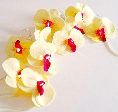 Orchid fairy lights, wedding decor, romantic lighting, wedding lighting, girls room decor, mothers day gift