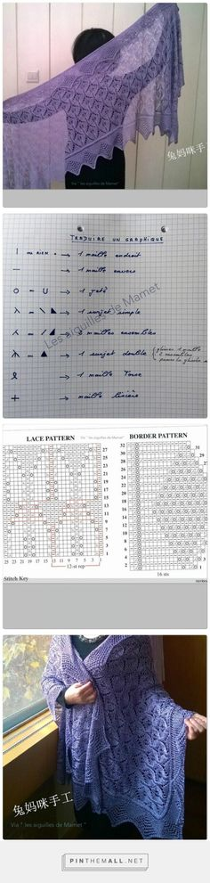 Tricot un superbe châle - la Grenouille tricote - created via http://pinthemall.net