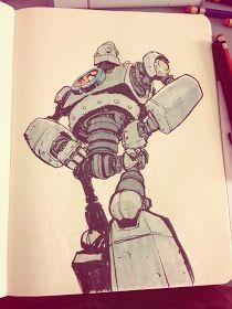 Jake Parker Sketchbook Dump - The Iron Giant Character Concept, Character Art, Concept Art, Character Design, Illustrations, Illustration Art, Art Sketches, Art Drawings, Space Opera
