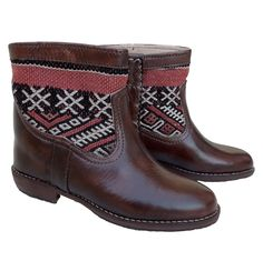 Moroccan Leather Kilim Ankle Boots – size 38. £150. Free delivery in Europe. SOLD!